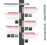 vector infographic typographic... | Shutterstock .eps vector #466194029