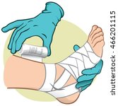 illustration first aid person... | Shutterstock .eps vector #466201115