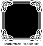 square frame border beautiful... | Shutterstock .eps vector #466205789