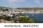 bodrum town in aegean coast of... | Shutterstock . vector #466212941