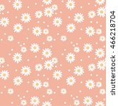 daisy cute seamless pattern.... | Shutterstock .eps vector #466218704