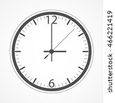 clock icon in flat style...