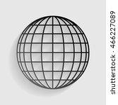 earth globe sign. black paper... | Shutterstock . vector #466227089