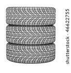 new tires stacked up and... | Shutterstock . vector #46622755