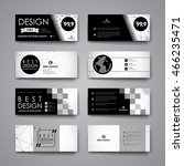 set of modern design banner... | Shutterstock .eps vector #466235471