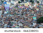view over rocinha favela   may... | Shutterstock . vector #466238051
