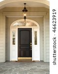 front door and porch to a... | Shutterstock . vector #46623919