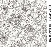 doodle seamless pattern with... | Shutterstock .eps vector #466242695