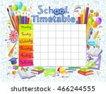 template school timetable for... | Shutterstock .eps vector #466244555