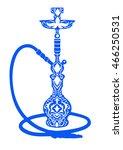 hookah logo vector illustration.... | Shutterstock .eps vector #466250531