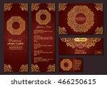 vector illustration of a menu... | Shutterstock .eps vector #466250615