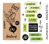 hand drawn craft paper... | Shutterstock .eps vector #466263731