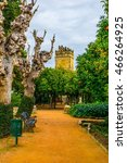 Small photo of beautiful gardens of the alcazar de los reyes cristianos - royal palace of the cristian kings in the spanish city cordoba