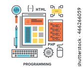 programming flat line concept