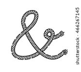 ampersand rope. vector ampersand | Shutterstock .eps vector #466267145