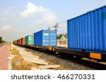 the container is transported by ...   Shutterstock . vector #466270331