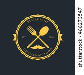 gentleman restaurant logo and... | Shutterstock .eps vector #466273547