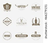 set of vintage logo and badge.... | Shutterstock .eps vector #466279151