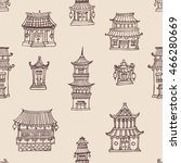 vector oriental seamless... | Shutterstock .eps vector #466280669