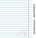 vector paper sheet in line with ... | Shutterstock .eps vector #466294811