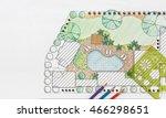 landscape architect design... | Shutterstock . vector #466298651