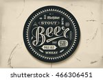 coaster for beer with hand... | Shutterstock .eps vector #466306451