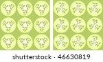 vector pattern of green leaves | Shutterstock .eps vector #46630819