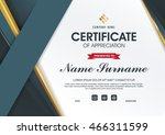 certificate template with... | Shutterstock .eps vector #466311599
