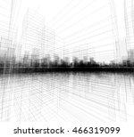 perspective 3d render of...   Shutterstock . vector #466319099