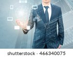 double exposure of professional ... | Shutterstock . vector #466340075