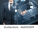 double exposure of professional ... | Shutterstock . vector #466343309