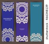 set of beautiful mandala... | Shutterstock .eps vector #466348139