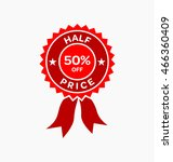 half price tag. sale offer... | Shutterstock .eps vector #466360409