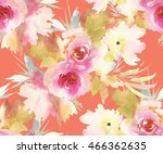 seamless pattern with flowers... | Shutterstock . vector #466362635