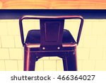bar chairs in cafe. | Shutterstock . vector #466364027