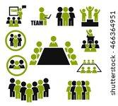 ally  alliance  team icon set | Shutterstock .eps vector #466364951