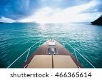 beautiful view from a bow of... | Shutterstock . vector #466365614