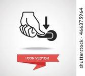 flush handle icon | Shutterstock .eps vector #466375964
