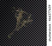 splash gold 3d transparent... | Shutterstock . vector #466377659