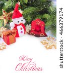 christmas background with a... | Shutterstock . vector #466379174