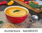 pumpkin and sweet potatoes soup ... | Shutterstock . vector #466380335