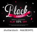 black friday sale with best... | Shutterstock .eps vector #466383491