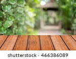 wooden table with space for... | Shutterstock . vector #466386089