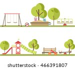 playground infographic elements ... | Shutterstock .eps vector #466391807