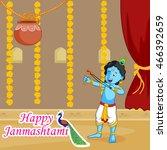 krishna janmashtami sale... | Shutterstock .eps vector #466392659