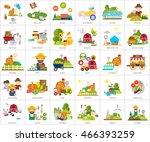 farm and ranch conceptual design | Shutterstock .eps vector #466393259