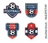 set of soccer football badges... | Shutterstock .eps vector #466395749