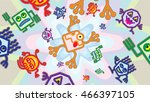 gremlins  game inspired graphic ... | Shutterstock . vector #466397105