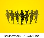 children running  designed... | Shutterstock .eps vector #466398455