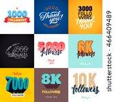 vector thanks design template... | Shutterstock .eps vector #466409489